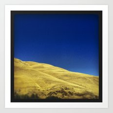 golden hillside Art Print