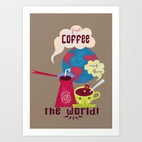 First Coffee Art Print