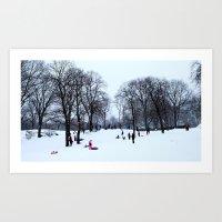 Snow in Central Park V Art Print