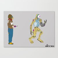 My Robot and I Canvas Print