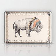 Laptop & iPad Skin featuring White Bison by Sandra Dieckmann
