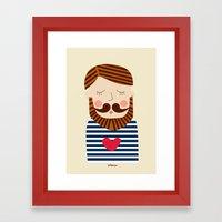 Bearded Sailor Lover Framed Art Print