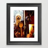 My Dear Poodle Framed Art Print