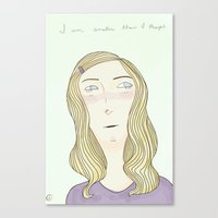 Canvas Print featuring Small by Suzie