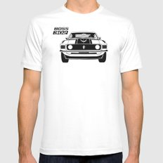 Boss 302 SMALL White Mens Fitted Tee