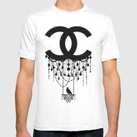 Coco Chandelier Mens Fitted Tee White SMALL