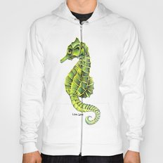 Sea Horse Green Yellow Sea Life Ocean Underwater Creature Hoody