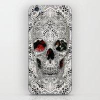 Lace Skull Light iPhone & iPod Skin