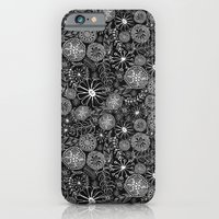 Black And White Floral iPhone 6 Slim Case