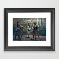 They Came One Night Framed Art Print