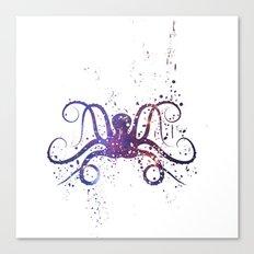 Galaxy Octopus Canvas Print