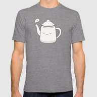 Teapot Mens Fitted Tee Tri-Grey SMALL