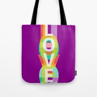 Tote Bag featuring Love by Inspire me Print