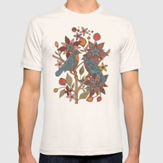 Lovebirds Mens Fitted Tee Natural SMALL