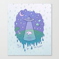Too Cute For This Planet Canvas Print
