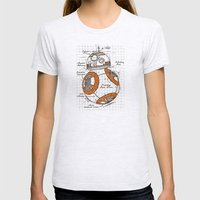 BB-8 Womens Fitted Tee Ash Grey SMALL