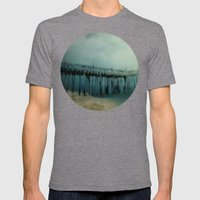 Night Pier Mens Fitted Tee Tri-Grey SMALL