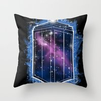 Time, Space, And Graffit… Throw Pillow