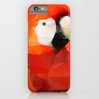 iPhone & iPod Case featuring Geo - Parrot red by Three of the Possessed