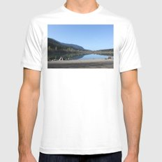 Rattle Snake Lake Mens Fitted Tee SMALL White