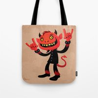 Heavy Metal Devil Tote Bag