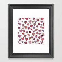 Artsy Hearts Framed Art Print