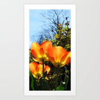 Yellow and Orange #1 Art Print