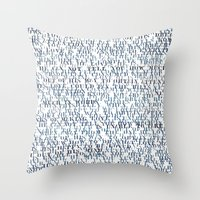 Sentences of Love Throw Pillow