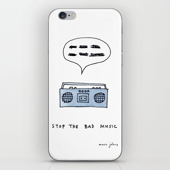 Stop the bad music iPhone & iPod Skin
