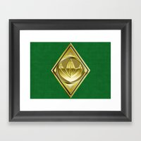 Green Ranger Framed Art Print