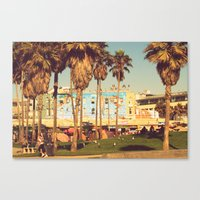 Canvas Print featuring venice beach by Silvia Giacoletto