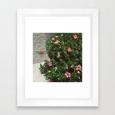 Pizza Floral Framed Art Print