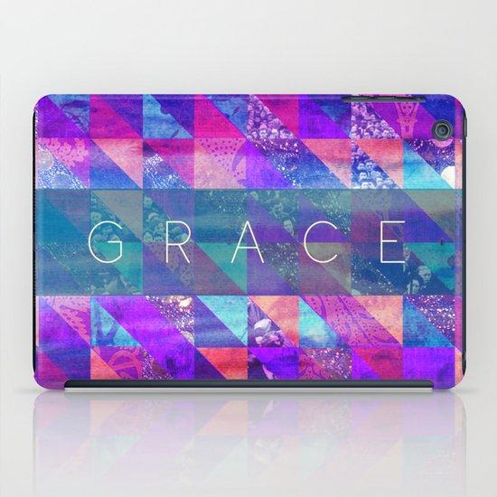 "2 Corinthians 12:9 ""Grace"" (purple triangles) iPad Case"