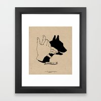Hand-shadows Mr Dog Framed Art Print