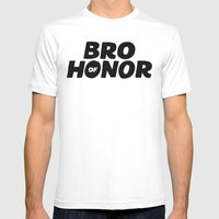 Bro of Honor Mens Fitted Tee White SMALL