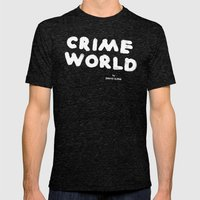 Crime World Logo Mens Fitted Tee Tri-Black SMALL
