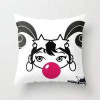 GIUPPY-Black & White Throw Pillow