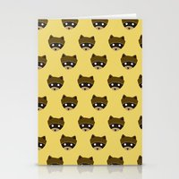 wes anderson Stationery Cards featuring Wes Racoon by mleko
