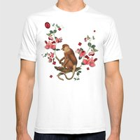 Monkey World: Nosy - White Mens Fitted Tee White SMALL