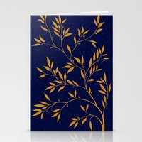 Blue branches Stationery Cards