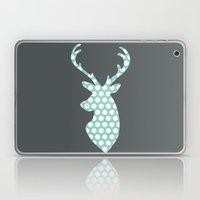 Deer head, art, polka dot, modern, vintage Laptop & iPad Skin