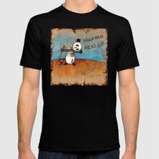 HOLD YOUR HEAD UP Black SMALL Mens Fitted Tee