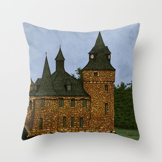 Jethro's Castle Throw Pillow