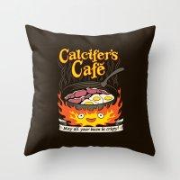 Calcifer's Cafe Throw Pillow