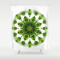 Maidenhair Fern Mandala Shower Curtain