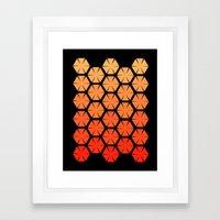 Honeycombs Framed Art Print