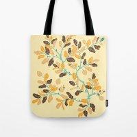 Crisp Autumn Branches Tote Bag
