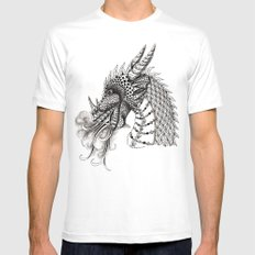 Dragon Mens Fitted Tee SMALL White