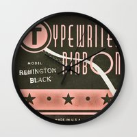 Typewriter Ribbon Wall Clock