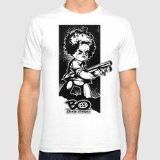 shotgun b/w White Mens Fitted Tee SMALL